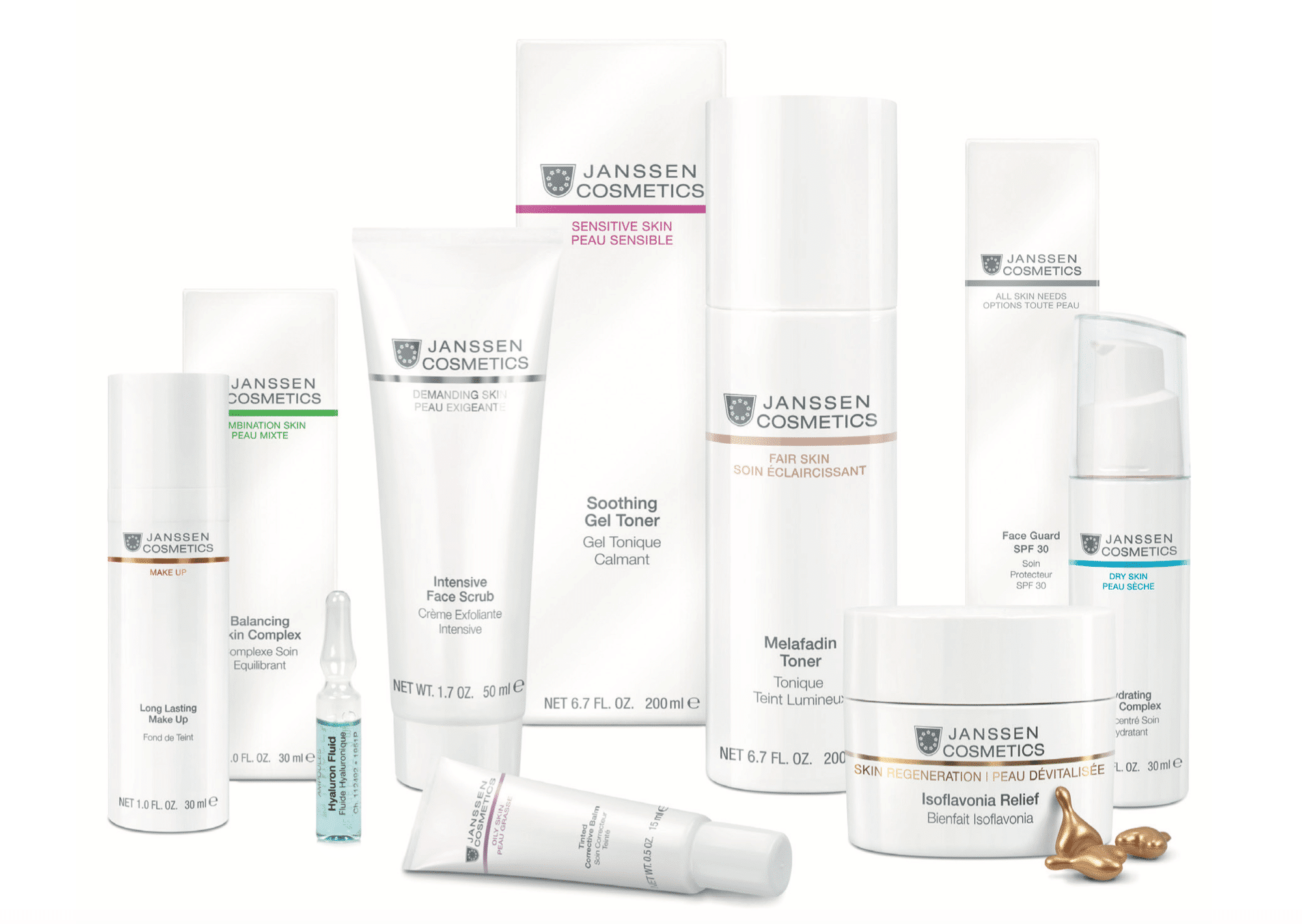Janssen Cosmetics Skincare For Bespoke Clinical Facials